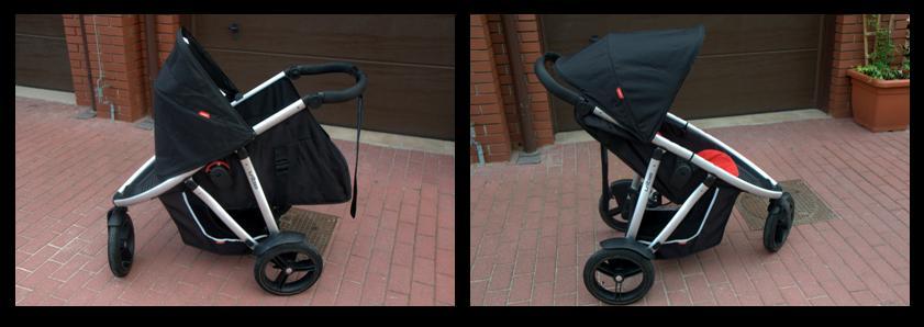 Phil & Teds Vibe w wersji pojedyncza gondola i pojedyncza spacerówka