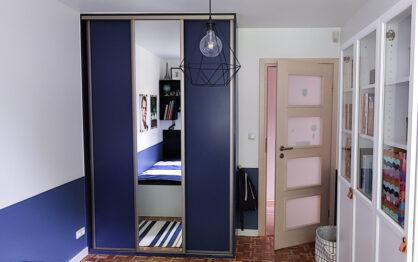 Malujemy szafę Franka – metamorfoza szafy w zabudowie!